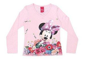 Blusa da Minnie - Rosa Claro - Cativa Disney