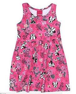 Vestido Floral - Minnie - Pink - Disney