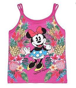 Blusa Floral Minnie - Pink - Disney