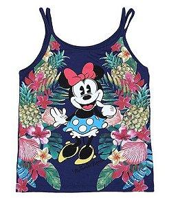 Blusa Floral Minnie - Azul Marinho - Disney