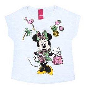 Blusa em Flamê Minnie - Branca - Disney
