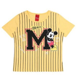 Camiseta do Mickey - Amarela Listrada -Cativa Disney