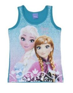Blusa Anna e Elsa (Frozen) - Verde Petróleo e Rosa - Brandili