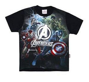 Camiseta do Avengers - Preta e Prateada - Brandili
