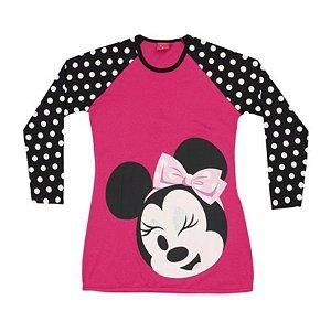 Camisola Infantil Minnie Disney - Rosa Poá - Lupo