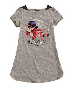 Vestido da Miraculous Ladybug - Cinza - Malwee