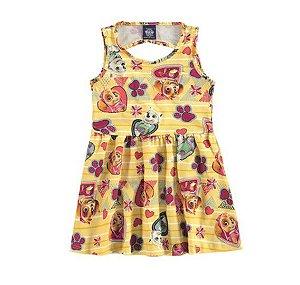 Vestido da Patrulha Canina - Skye e Everest - Amarelo - Malwee