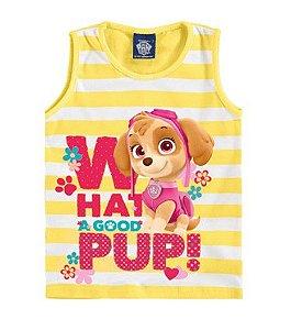 Blusa Infantil Skye Patrulha Canina - Listrada Amarela - Malwee