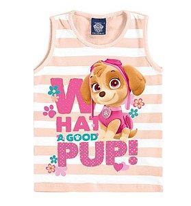 Blusa da Skye - Patrulha Canina - Listrada Rosa Claro - Malwee