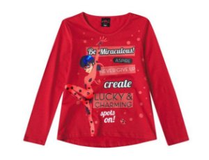 Blusa Miraculous - Ladybug - Vermelha - Malwee
