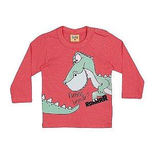 Camiseta do Dinossauro - Manga Longa - Bebê