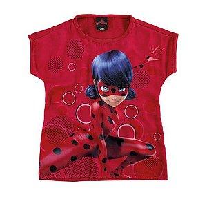 Blusa Ampla -  Miraculous - Ladybug - Vermelha - Malwee