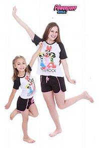 Pijama ShortDoll das Meninas Superpoderosas - Coleção Mãe e Filha