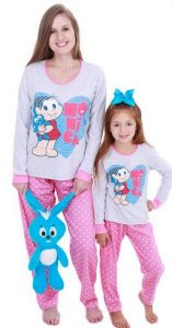 Pijama da Mônica - Coleção Mãe e Filha - Poá