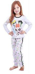 Pijama Infantil Meninas Superpoderosas - Cinza