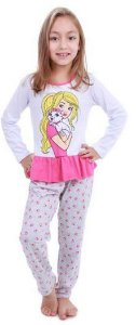 Pijama da Barbie e Gatinha - Mattel