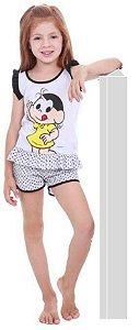 Pijama Short Doll da Magali - Turma da Mônica