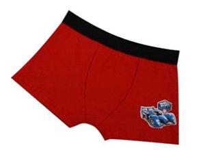Cueca Boxer Hot Wheels - Vermelho e Preto - Infantil