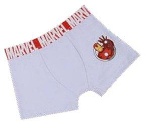 Cueca Boxer Homem de Ferro - Avengers - Branca