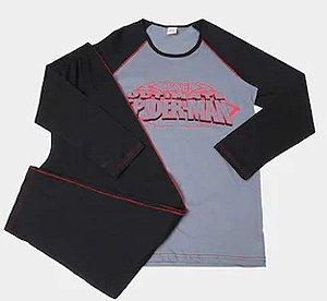 Pijama Infantil Homem Aranha Marvel-  Cinza e Preto