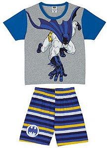 Pijama infantil Batman Brilha Escuro Azul e Cinza - Lupo