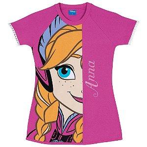 Camisola Frozen Anna - Disney - Rosa - Lupo