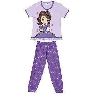 Pijama Princesa Sofia -Disney Princess - Lilás - Lupo