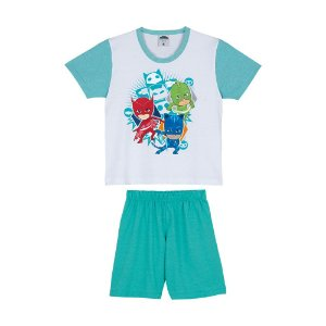 Pijama do PJ Masks - Branco e Verde - Lupo