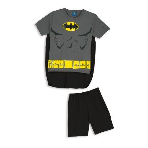 Pijama do Batman com Capa Removível - Lupo