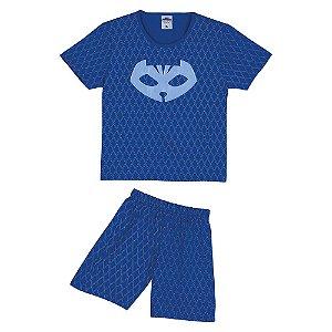 Pijama do PJ Masks -Menino Gato - Azul -Lupo