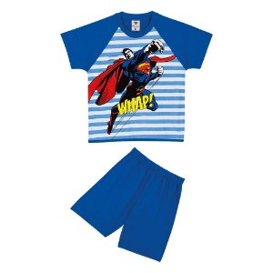 Pijama do Superman - Azul Listrado - Lupo