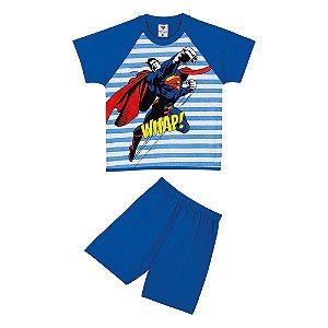Pijama do Superman - Azul Listrado - Lupo