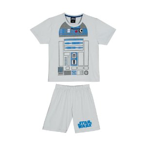 Pijama R2D2 Star Wars Disney - Cinza e Azul - Lupo