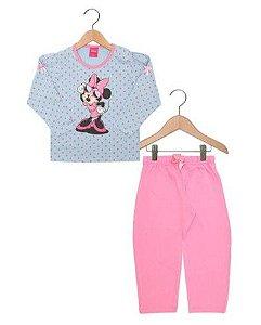 Pijama Infantil Minnie Disney - Azul Poá - Lupo