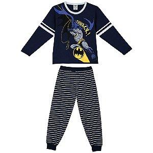 Pijama do Batman - Brilha Escuro - Azul Marinho - Lupo