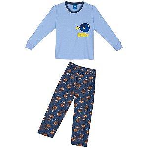 Pijama Dory - Azul Estampado - Lupo