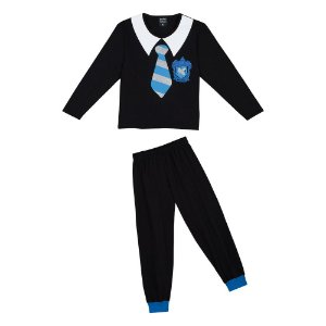 Pijama Infantil Harry Potter Corvinal - Preto e Azul - Lupo