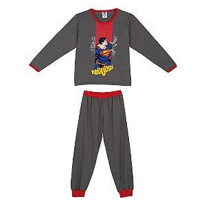 Pijama do Superman - Cinza e Vermelho - Lupo