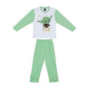Pijama Star Wars Yoda Disney - Verde e Branco - Lupo