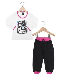 Pijama Infantil Star Wars Darth Vader Disney - Branco e Preto - Lupo
