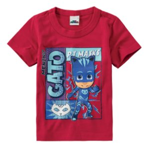 Camiseta PJ Masks - Menino Gato - Malwee