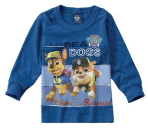 Camiseta da Patrulha Canina - Chase e Rubble - Malwee