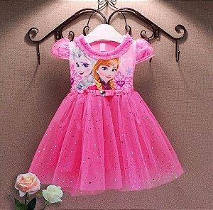 Vestido da Anna e Elsa - Frozen