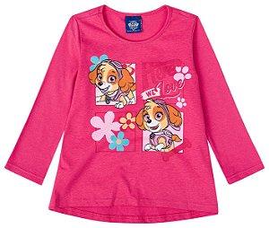 Blusa da Skye - Patrulha Canina - Rosa - Malwee