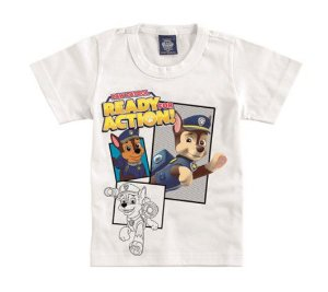 Camiseta Branca da Patrulha Canina - Chase - Malwee