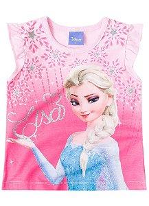 Blusa Elsa - Frozen Disney - Rosa Claro