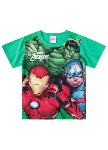 Camiseta Avengers - Verde - Brilha no Escuro
