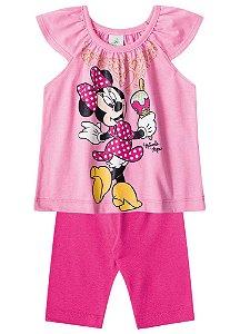 Conjunto de Blusa e Legging Capri - Minnie Rosa - Disney Baby