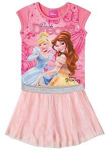 Conjunto de Blusa e Saia Princesas da Disney - Coral