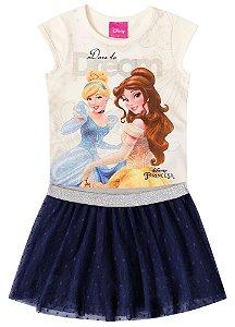 Conjunto de Blusa e Saia Princesas da Disney - Off-White